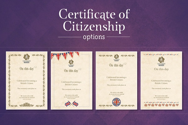 Citizenship certificate options