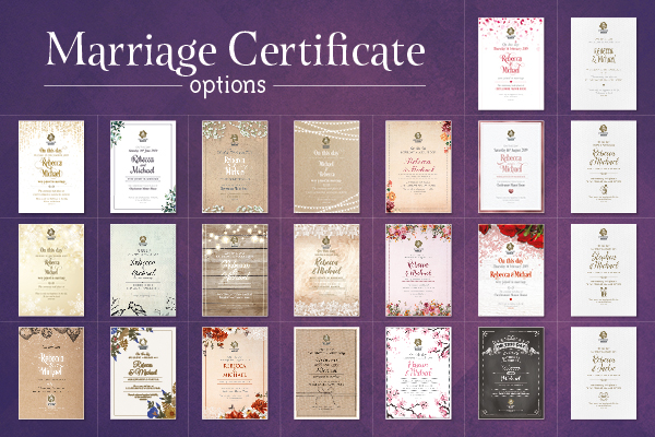 Wedding commemorative certificates